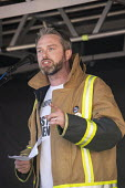 Andrew Scattergood FBU speaking, protest against Austerity cuts ahead of the Conservative Party Conference, Birmingham - John Harris - People's Assembly Against Austerity,2010s,2018,activist,activists,against,anti,Austerity,Austerity Cuts,Birmingham,CAMPAIGNING,CAMPAIGNS,Conference,conferences,cuts,DEMONSTRATING,Demonstration,FBU,mem