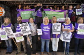 Mandy Buckley, Unison Home care workers speaking, Protest against Austerity cuts ahead of the Conservative Party Conference, Birmingham - John Harris - 29-09-2018
