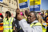 Protest against Austerity cuts ahead of the Conservative Party Conference, Birmingham - John Harris - People's Assembly Against Austerity,2010s,2018,activist,activists,against,anti,Austerity,Austerity Cuts,BAME,BAMEs,Birmingham,Black,BME,bmes,CAMPAIGNING,CAMPAIGNS,Conference,conferences,cuts,DEMONSTRA