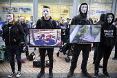 Animal Rights protest by Anonymous for the Voiceless. The Cube of Truth showing videos of animal cruelty, outside Tesco supermarket, Birmingham - John Harris - 2010s,2018,abuse,activist,activists,against,agricultural,agriculture,animal,Animal Rights,Animal Welfare,animals,Birmingham,campaign,campaigner,campaigners,campaigning,CAMPAIGNS,capitalism,cities,City