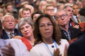 Theresa May, Philip May, Conservative Party Conference, Birmingham, 2018 - Jess Hurd - 2010s,2018,Birmingham,Conference,conferences,CONSERVATIVE,Conservative Party,Conservative Party Conference,conservatives,FEMALE,Party,people,person,persons,POL,political,POLITICIAN,POLITICIANS,Politic