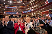 Delegates applauding, Theresa May speaking Conservative Party Conference, Birmingham, 2018 - Jess Hurd - 03-10-2018
