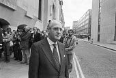 George Carman, barrister to Jeremy Thorpe, The Old Bailey during the trial for conspiracy to murder Norman Scott, London 1979 - NLA - 18-05-1979