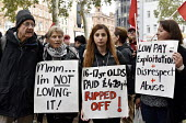 McDonald's, UberEats and Wetherspoon workers strike over low pay. Rally Leicester Square, London - Stefano Cagnoni - 04-10-2018