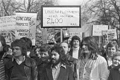 British Aircraft Corporation workers, including those working on Concorde, protest against reduncancies, London 1976 - NLA - 1970s,1976,activist,activists,against,Aircraft,anti,AUEW,BAC,British Aircraft Corporation,CAMPAIGNING,CAMPAIGNS,Concorde,DEMONSTRATING,Demonstration,job loss,Job Losses,jobless,jobs,London,loss,losses