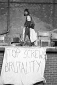 HMP Hull Prison riot 1976, for 3 days prisoners barricaded themselves on the prison roof complaining of violence by prison officers - NLA - 02-09-1976