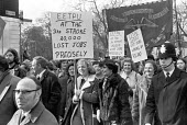 Protest against job cuts in the telecommunications industry, London 1977 - NLA - 1970s,1977,activist,activists,against,banner,banners,CAMPAIGNING,CAMPAIGNS,capitalism,cuts,DEMONSTRATING,Demonstration,EETPU,Industries,industry,job loss,jobless,JOBS,London,losses,Marginalised,member