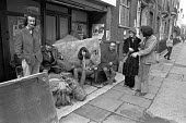 Squatters after being evicted from Cleveland Street, London 1976 - NLA - 02-12-1976
