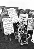 NALGO members, national protest demonstration against cuts, London 1976 - NLA - 1970s,1976,activist,activists,against,bone,bones,CAMPAIGNING,CAMPAIGNS,Cuts,DEMONSTRATING,Demonstration,FEMALE,health cuts,Health Worker,health workers,jobless,London,Marginalised,member,member member
