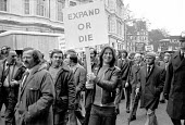 Steelworkers from Port Talbot South Wales protest against job cuts and redundancies, London 1976 - NLA - 01-12-1976