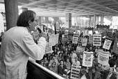 Hounslow Hospital workers protest against its planned closure London 1977 - NLA - 1970s,1977,activist,activists,against,CAMPAIGN,campaigner,campaigners,CAMPAIGNING,CAMPAIGNS,CLOSED,closing,closure,closures,DEMONSTRATING,Demonstration,DEMONSTRATIONS,Hospital,hospital closures,HOSPIT