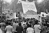 Protest for democracy in Pakistan London 1978 the freeing of former prime minister Zulfikar Ali Bhutto, who was removed in a Military coup by General Zia- Ul-Haq - NLA - 1970s,1978,activist,activists,against,Asian,Asians,BAME,BAMEs,banner,banners,Black,BME,bmes,CAMPAIGNING,CAMPAIGNS,democracy,democracy in Pakistan,DEMONSTRATING,Demonstration,dictatorship,diversity,eth