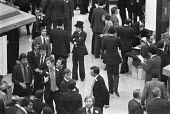 The floor of the Stock exchange, The City of London, 1978 - NLA - 1970s,1978,business,businessman,businessmen,dealer,dealers,dealing,EBF,Economic,Economy,employee,employees,Employment,exchange,finance,FINANCIAL,floor,free market,investing,investment,investments,inve