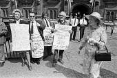 Half day pay strike by civil servants picketing House of Commons, London 1978 - NLA - 26-07-1978