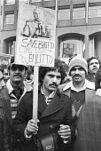 Pakistanis protest against the planned execution of former prime minister Zulfikar Ali Bhutto under the military dictatorship of General Zia Ul-Haq, Pakistan Embassy, London 1979 - NLA - 1970s,1979,activist,activists,against,Asian,Asians,BAME,BAMEs,Black,BME,bmes,CAMPAIGNING,CAMPAIGNS,democracy in Pakistan,DEMONSTRATING,Demonstration,dictatorship,diversity,ethnic,ethnicity,execution,e