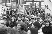 Mass picket, 1978 NUJ strike against low pay for provincial reporters, Nottingham Evening Post. The journalists were all sacked for disloyalty and not re-employed after the strike - NLA - 20-12-1978