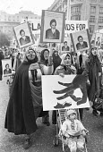 Protest in support of Ayattollah Khomeini and the Iranian revolution, London 1979 - NLA - 1970s,1979,activist,activists,against,Ayatollah Khomeini,BAME,BAMEs,Black,BME,bmes,CAMPAIGNING,CAMPAIGNS,DEMONSTRATING,Demonstration,diversity,ethnic,ethnicity,FEMALE,Iran,iranian,Iranian revolution,I