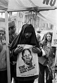 London 1979 Protest at death sentence for Solomon Mahlangu a South African anti-Apartheid freedom fighter hanged on April 6 1979, London 1979 - NLA - 1970s,1979,AAM,activist,activists,African,against,ANC,Anti Apartheid Movement,BAME,BAMEs,Black,BME,bmes,CAMPAIGNING,CAMPAIGNS,death,DEATHS,DEMONSTRATING,Demonstration,died,diversity,ethnic,ethnicity,f