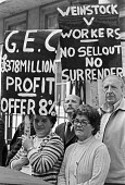 GEC workers lobby their company HQ, London 1979 in support of their pay claim and against redundancies - NLA - 17-09-1979