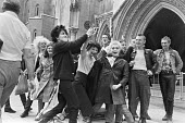 Punk squatters at the High Court challenging their eviction from a squat, London 1979 - NLA - 1970s,1979,Court,eviction,FEMALE,homeless,HOMELESSNESS,Housing,London,movement,people,person,persons,punk,punk rocker,Punk squatters,punks,squat,squats,squatter,squatters,squatting,woman,women,Young,y
