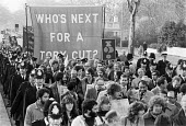 50,000 march on TUC Anti cuts protest, London 1979 a few months after election of Conservative government - NLA - 28-11-1979