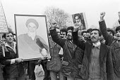 Protest in support of the Iranian Revolution, London 1979 - NLA - 1970s,1979,activist,activists,against,Ayatollah Khomeini,CAMPAIGNING,CAMPAIGNS,DEMONSTRATING,Demonstration,Iran,Iranian,Iranian revolution,London,photograph,photographs,portrait,portraits,Protest,PROT