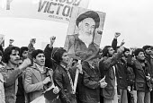 Protest in support of the Iranian Revolution, London 1979 - NLA - 1970s,1979,activist,activists,against,Ayatollah Khomeini,banner,banners,CAMPAIGNING,CAMPAIGNS,DEMONSTRATING,Demonstration,Iran,Iranian,Iranian revolution,London,people,person,persons,photograph,photog