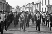 Orangemen march, Dungiven, Northern Ireland 1970 - NLA - 1970,1970s,Bowler Hat,bowler hats,BowlerHat,Dungiven,Ireland,Irish,loyalism,loyalist,loyalists,march,marching,Northern Ireland,Orange,Orange Order,Orange parade,Orangeman,Orangemen,parade,PEOPLE,POL,p