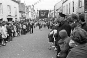 Parade 1970 by Harland and Wolff workers, their families and the Orange Order, Belfast, Northern Ireland - NLA - 13-06-1970
