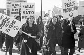 CND protest march 1970 Crawley to Coulsdon, London - NLA - peace movement,1970,1970s,activist,activists,against,anti,Anti War,Antiwar,CAMPAIGN,Campaign for nuclear disarmament,campaigner,campaigners,CAMPAIGNING,CAMPAIGNS,CND,CND Symbol,DEMONSTRATING,Demonstra