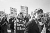 CND protest march 1970 Crawley to Coulsdon, London - NLA - peace movement,1970,1970s,activist,activists,against,anti,Anti War,Antiwar,CAMPAIGN,Campaign for nuclear disarmament,campaigner,campaigners,CAMPAIGNING,CAMPAIGNS,CND,CND Aldermaston: H bomb,CND Symbol