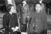Margaret Thatcher greeting Chinese Premier Hua Guofeng, Heathrow Airport, 1979 - NLA - 28-10-1979