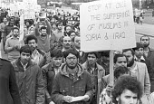 Protest against the Baath Party in Syria and Iraq, London 1979 - NLA - 1970s,1979,activist,activists,against,Baath Party,CAMPAIGNING,CAMPAIGNS,DEMONSTRATING,Demonstration,Iraq,ISLAM,ISLAMIC,London,MUSLEM,Muslim,muslims,Party,placard,placards,Protest,PROTESTER,PROTESTERS,