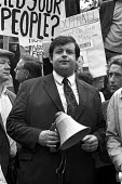 Martin Webster, National Front, speaking, 1972 meeting of Smithfield porters and sundry racist hangers on, before a march in support of Enoch Powell and in protest at the arrival of Ugandan Asians - NLA - 07-09-1972