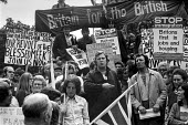 Danny Harmston, Smithfield porter and former bodyguard of Fascist leader Oswald Mosley speaking 1972 rally of Smithfield workers and National Front members in support of Enoch Powell and against the r... - NLA - 07-09-1972