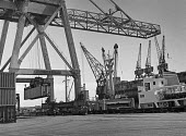 Containerisation comes to Port of Liverpool 1970. One of the first container ships being loaded - Martin Mayer - 06-07-1970