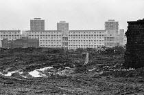 New high rise council housing under construction, Manchester 1973 - Martin Mayer - 1970s,1973,blocks,building,building site,buildings,cities,City,Construction Industry,council,Council housing,Council housing,demolish,DEMOLISHED,demolishing,demolition,DEVELOPMENT,EBF,Economic,Economy