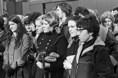 Women workers, mass meeting, strike and occupation of Coles Cranes, Sunderland 1973 against closure - Martin Mayer - 20-03-1973