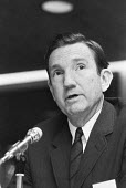 Ramsey Clark, US lawyer chairing the tribunal into the execution of Zulfikar Ali Bhutto, prime minister of Pakistan London 1979 He was overthrown by his army chief, General Zia-ul-Haq in a military Co... - Ray Rising - 1970s,1979,activist,activists,american,americans,campaigner,campaigners,capital punishment,CLJ,execution,executions,Human Rights,lawyer,London,male,man,men,military,minister,Pakistan,Pakistani,Pakista