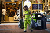 Shopping Centre, Reading, Berkshire - John Harris - 2010s,2018,bag,bags,bin,bins,bought,buy,buyer,buyers,buying,cleaner,cleaners,cleaning,cleansing,commodities,commodity,consumer,consumers,Council Services,Council Services,customer,customers,employee,e
