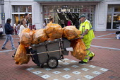 Shopping Centre, Reading, Berkshire - John Harris - 2010s,2018,bag,bags,bin,bins,bought,buy,buyer,buyers,buying,cart,carts,cleaner,cleaners,cleaning,cleansing,commodities,commodity,consumer,consumers,Council Services,Council Services,customer,customers
