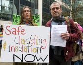 Safe Cladding and Insulation Now protest, MHCLG, London. Following the Grenfell tragedy, protest demanding safe cladding for housing and public sector buildings and proper insulation from the cold for... - Stefano Cagnoni - activist,activists,against,CAMPAIGNING,CAMPAIGNS,Cladding,Cold,council housing,council housing,DEMONSTRATING,demonstration,Fire,fires,Fuel Poverty Action,Grenfell,Grenfell Fire,health and safety,insul
