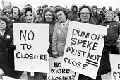Workers protest at closure of Dunlop factory, Speke, Liverpool 1979 - Peter Arkell - 07-03-1979