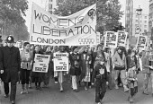Protest against the Corrie Anti-Abortion Bill, London 1979 and in support of a womans right to choose - Peter Arkell - 1970s,1979,abortion,activist,activists,against,anti-abortion bill,banner,banners,campaign,campaigning,CAMPAIGNS,Corrie Bill,DEMONSTRATING,Demonstration,equal rights,equality,FEMALE,feminism,feminist,f