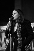 Bernadette Devlin speaking to a meeting London 1976 to commemorate the Bloody Sunday shootings in 1972. Northern Ireland civil rights leader - Peter Arkell - 01-02-1976