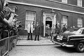 Jim Callaghan leaving Downing Street London 1979 for Parliament where he faced a vote of No Confidence which he lost, triggering a general election - Ray Rising - 28-03-1979