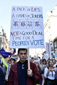 Peoples Vote March for the Future. London protest demanding a second referendum on the Brexit deal - Stefano Cagnoni - 2010s,2018,activist,activists,against,BREXIT,CAMPAIGNING,CAMPAIGNS,Democracy,DEMONSTRATING,demonstration,EU,Europe,European,European flag,European Union,europeans,FLAG,flags,London,new vote,Peoples Vo