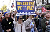 Peoples Vote March for the Future. London protest demanding a second referendum on the Brexit deal - Stefano Cagnoni - 2010s,2018,activist,activists,against,BREXIT,CAMPAIGNING,CAMPAIGNS,Democracy,DEMONSTRATING,demonstration,EU,Europe,European,European flag,European Union,europeans,FEMALE,FLAG,flags,London,new vote,peo