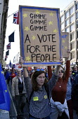 Peoples Vote March for the Future. London protest demanding a second referendum on the Brexit deal - Stefano Cagnoni - 2010s,2018,2nd,activist,activists,against,BREXIT,CAMPAIGN,campaigner,campaigners,CAMPAIGNING,CAMPAIGNS,Democracy,DEMONSTRATING,demonstration,DEMONSTRATIONS,EU,Europe,European,European flag,European Un