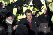 Campaigner George Monbiot blocking the road, Extinction Rebellion nonviolent direct action against climate change, Parliament Square, London - Jess Hurd - 2010s,2018,activist,activists,against,block,blockade,blockading,blocking,blocks,campaign,campaigner,campaigners,campaigning,CAMPAIGNS,civil disobedience,Climate Change,DEMONSTRATING,demonstration,DEMO